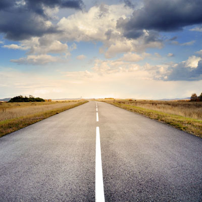 Image of a long road